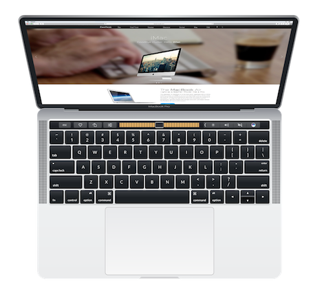 Silver MacBook Pro Touch Bar